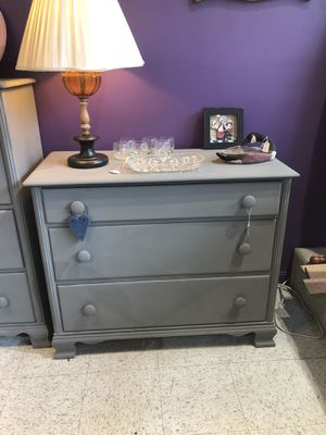 Maple dresser painted grey for Sale in Frederick, MD