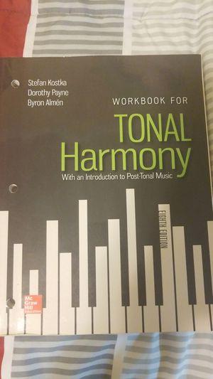 Tonal Harmony Workbook 8th edition for Sale in Yelm, WA