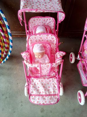 $25 double dolls twins and double doll stroller for Sale in Palmdale, CA
