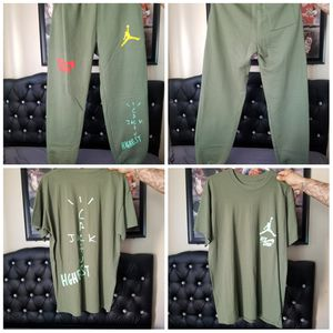 Travis Scott Jordan Cactus Jack Highest Sweatpant and Tee Olive for Sale in Pasadena, CA