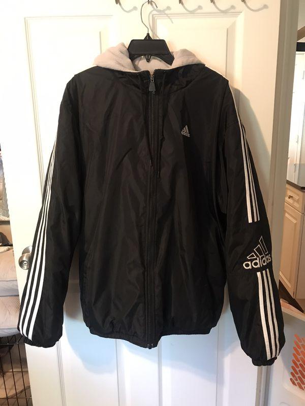 Men's Lined Heavyweight Adidas Zipup Coat