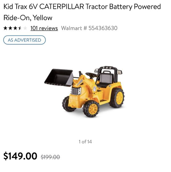 c6f6c8079278 Kid Trax 6V CATERPILLAR Tractor Battery Powered Ride-On