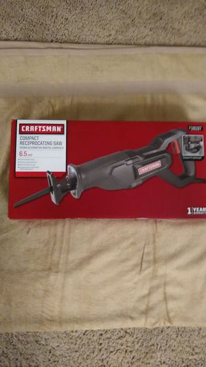 Craftan 6.5 amp reciprocating saw for Sale in Germantown, MD