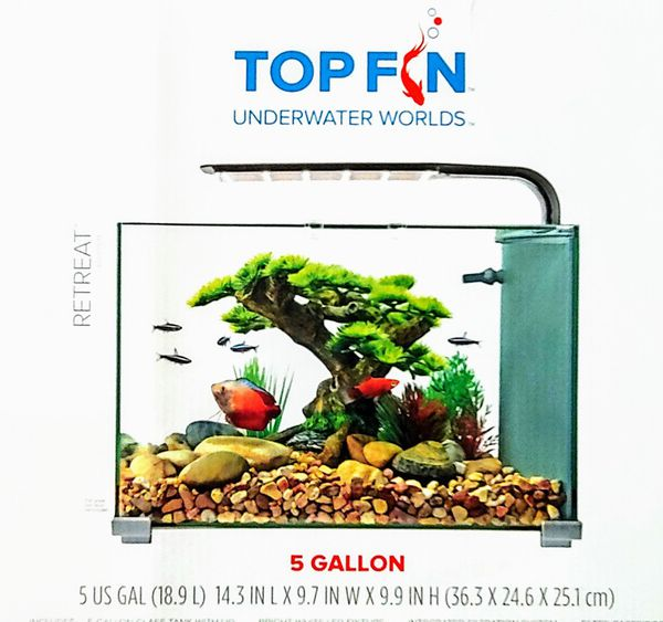 TopFin Retreat Aquarium/5 gal Fish Tank
