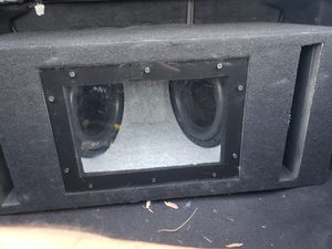 """2 10"""" power reference memphis subwofers with amplifier and box for Sale in Mesa, AZ"""