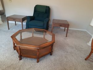 Chair, coffee table and 2 end tables for Sale in Darrington, WA
