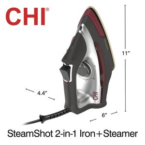 CHI STEAM SHOT 2 IN 1 IRON PLUS STEAMER BRAND NEW!! BEST PRICED AND LOCAL PICK UP!! NO TAX!! NO LINES!! for Sale in Perris, CA