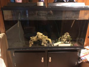 70 gallon fish tank with stand for Sale in Arlington, VA