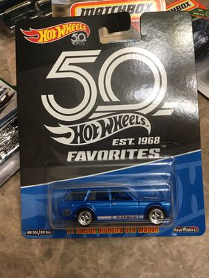 Hot wheels 71 datsun bluebird 510 wagon collectible die cast toy car $10 trade hotwheels honda Nissan Subaru Toyota Mazda for Sale in Colton, CA