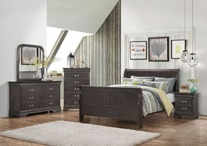 New! 5PC Gray Queen Bedroom Set for Sale in Columbia, MD