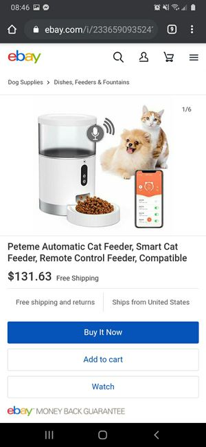 automatic cat feeder - $65 (Rio Linda) for Sale in Rio Linda, CA
