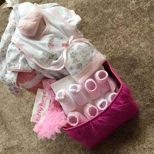 Infant Girl Gift Basket Baby Shower Items for Sale in Fort Lauderdale, FL