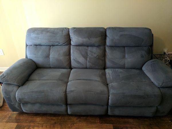 Corinne Blue Reclining Sofa For Sale In Tamarac Fl Offerup