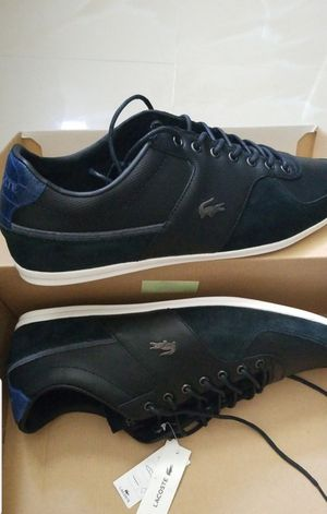 Lacoste mens leather shoes new size 12 for Sale in Miami, FL
