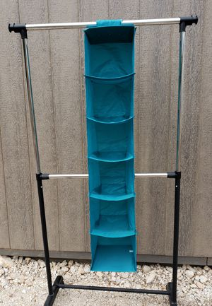 Hanging Closet Organizer Shelves Turquoise for Sale in Leander, TX