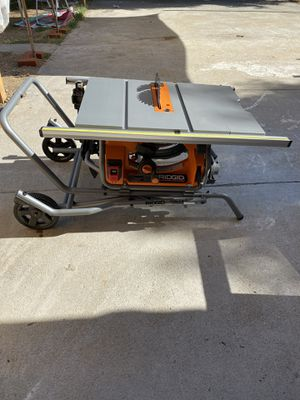RIDGID 10 in. Pro Jobsite Table Saw with Stand for Sale in Highland, CA