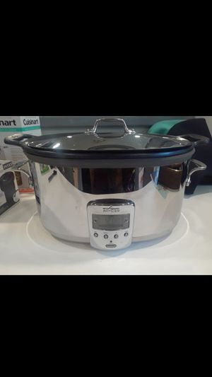 All-clad digital slow cooker (Retails $239) ((Will need liner- pan is scuffed)) for Sale in Fort Washington, MD