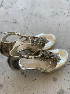 GIANNI BINI Golden Heels for Sale in Austin, TX