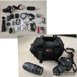Like new Canon SL1 18.1mp dslr camera for Sale in Minocqua, WI