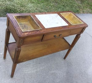 MCM Console Table with Brass Inserts for Sale in Lake Elsinore, CA