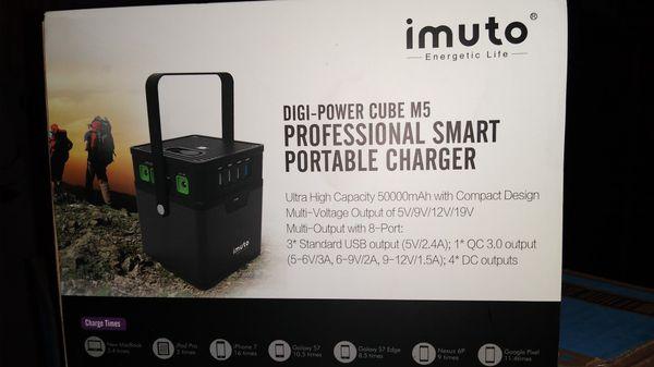 Imuto 182Wh 50000mAh Portable Power Station Camping Generator