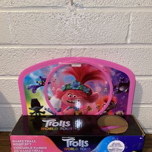 Dreamworks Trolls World Tour Basketball Set Net, No Ball, Hoop & Door Hanger New for Sale in Houston, TX