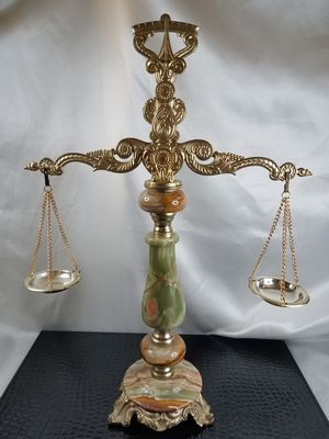 Antique Brass and Marble Balance Scale for Sale in Las Vegas, NV