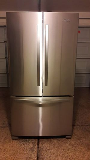 stainless steel kitchen appliances French doors set excellent like new condition for Sale in Phoenix, AZ