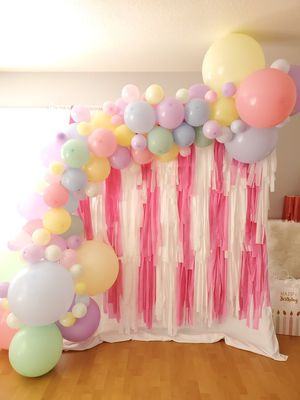 Pink Tassle garland party backdrop for Sale in Stockton, CA