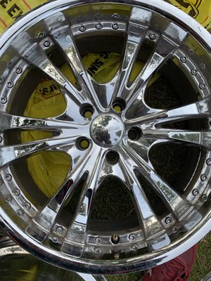 "Panther 20"" Chrome rims 5x114.3 for Sale in Portland, OR"