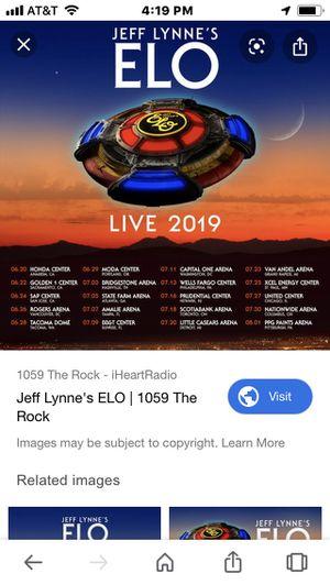 Nashville ELO tickets sec 4 row 1 for Sale in Nashville, TN