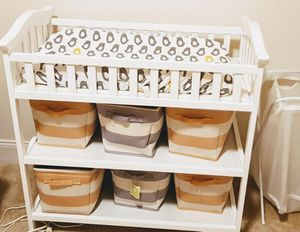 White Diaper Changing Table for Sale in Ashburn, VA
