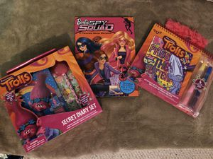 New in Box! Trolls and Barbies – Girls Activities Unopened! Perfect Gift for Sale in Charlotte, NC