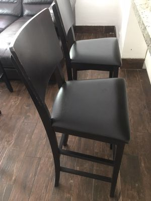 Expresó brown bar stools with pleather for Sale in Miami, FL