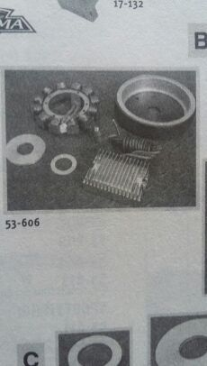 Harley stator & rotor with chrome voltage regulator fits 1970-1999 Big Twin (evo) for Sale in Jacksonville, FL
