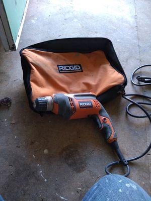 Ridgid corded drill for Sale in Buchanan, MI