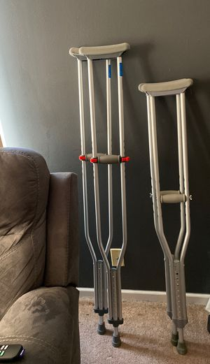 Large and small crutches for Sale in Plainfield, IL