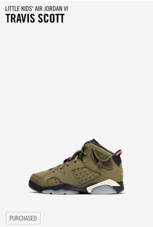 Travis Scott Little Kids' Air Jordan VI (PreSchool Size: 3) for Sale in DORCHESTR CTR, MA