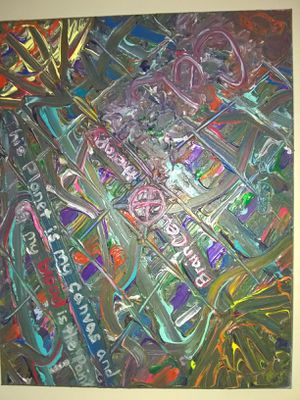 """""""Twisted Abstract"""" 16x20 #acrylic #painting on stretched #canvas by ceL for Sale in Lynchburg, VA"""