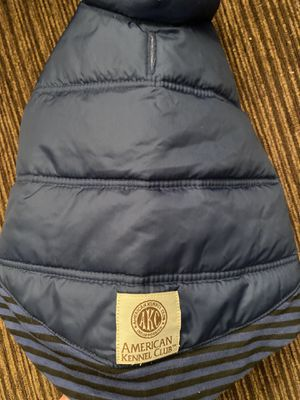 American Kennel Club AKC Dog Coat Jacket Vest Navy Blue Size Small Gently Used for Sale in Edmonds, WA