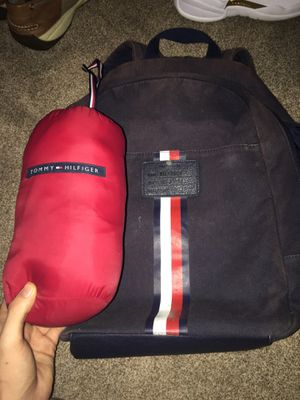 Tommy Hilfiger packable jacket AND Tommy Hilfiger backpack for Sale in New Port Richey, FL