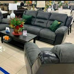 IN STOCK ♦️EARHART Slate Reclining Living Room Set for Sale in Bailey's Crossroads,  VA