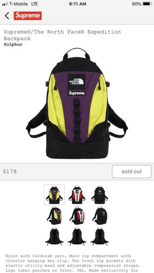 Supreme north face backpack for Sale in Staten Island, NY