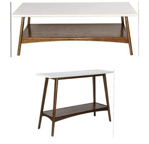 Matching mid century modern coffee and console table for Sale in Torrance, CA