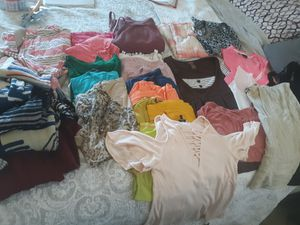 Woman tops and weaters. Size range from M To L overall good condition. Pick up for Sale in Reedley, CA
