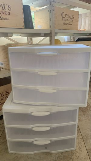 2 sterilite plastic drawer/ organizer for Sale in Aliso Viejo, CA