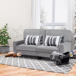 Sofa Couch Loveseat Tufted Upholstered Square Armrest Deluxe Home Furniture Gray for Sale in Hacienda Heights,  CA