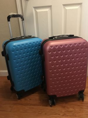 4 wheels spinner carry on luggage small suitcase price for each for Sale in San Jose, CA