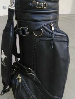 The Leather Golf, Inc. Staff Golf Bag Pelican Hill Golf Club Newport Beach CA for Sale in Claremont,  CA