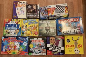 Board Games Bundle for Sale in Fort Worth, TX